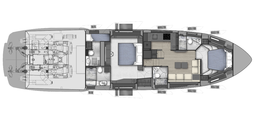 Pershing 7x New - Layout