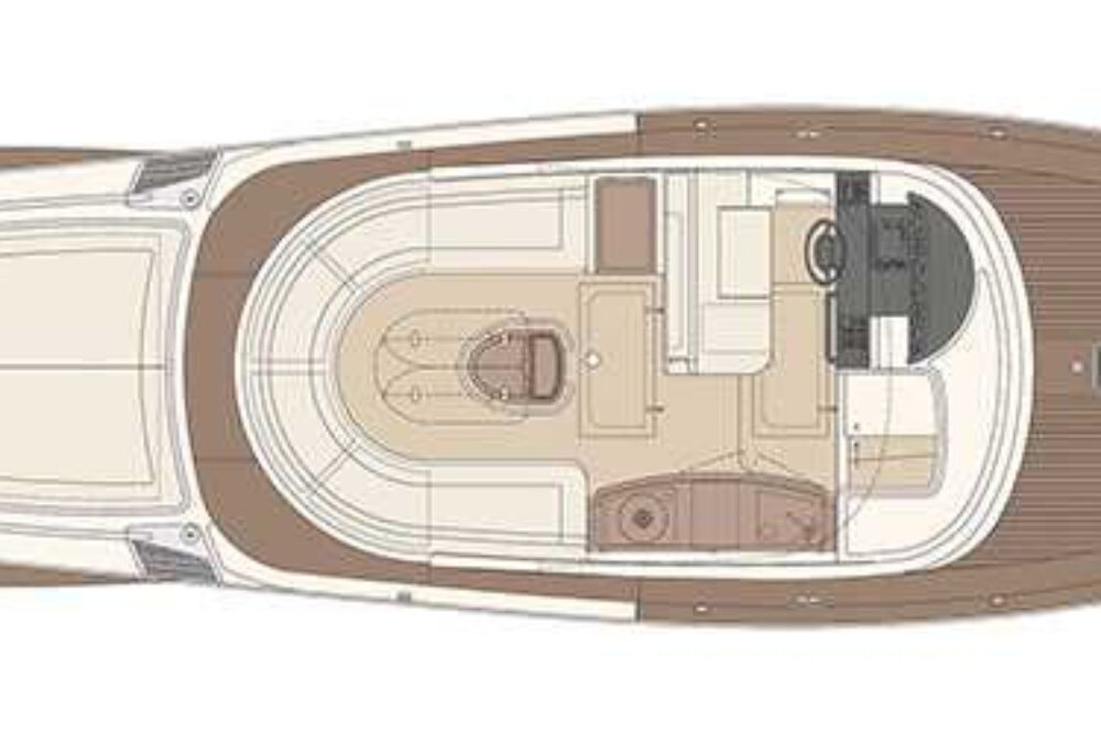 Riva Aquariva Super - Layout - Main Deck