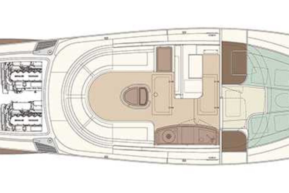 Riva Aquariva Super - Layout - Lower Deck