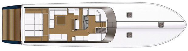 Itama 75 - Layout - Main deck