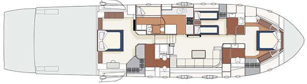 Itama 75 - Layout - Lower deck
