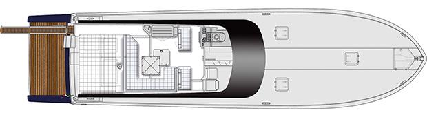 Itama 62 - Layout - Main deck
