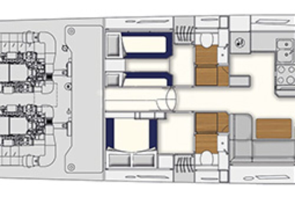 Itama 62 - Layout - Lower deck