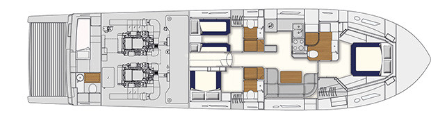 Itama 62 - Layout - Lower deck