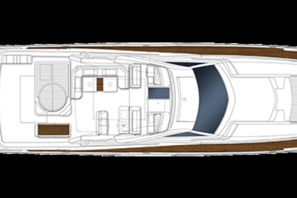 Ferretti Yachts 960 - Layout - Flybridge