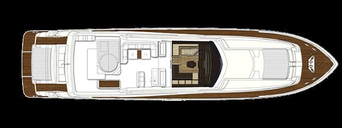 Ferretti Yachts 960 - Layout - Upper deck