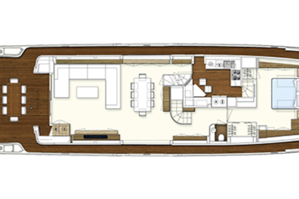 Ferretti Yachts 960 - Layout - Main Deck