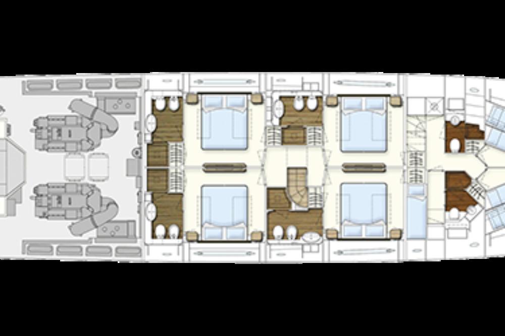 Ferretti Yachts 960 - Layout - Lower Deck
