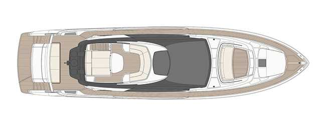 Riva 76′ Perseo - Layout - Top