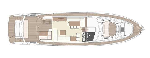 Riva 76′ Perseo - Layout - Main Deck