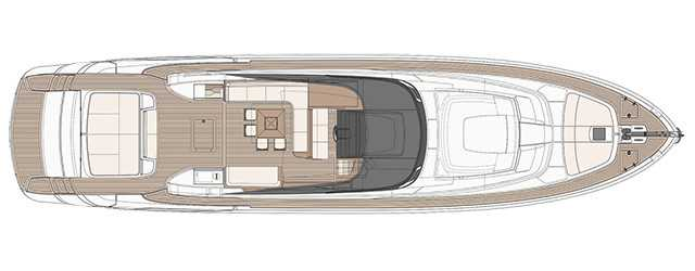 Riva 88′ Florida - Layout - Main Deck