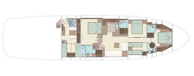 Riva 88′ Florida - Layout - Lower Deck