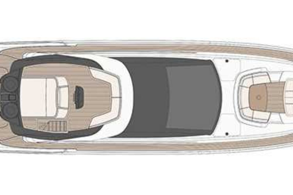 Riva 88′ Domino Super - Layout - Sun Deck