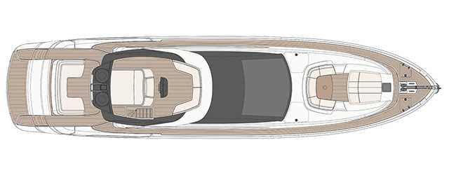 Riva 88′ Domino Super - Layout - Sun Deck