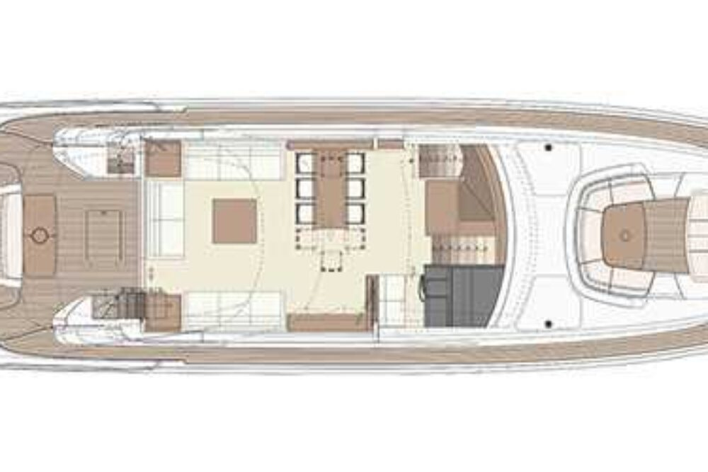 Riva 88′ Domino Super - Layout - Main Deck