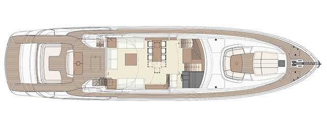 Riva 88′ Domino Super - Layout - Main Deck