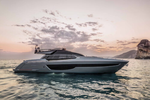 Riva 76' Perseo Super: the style is Riva, the restyling is super.