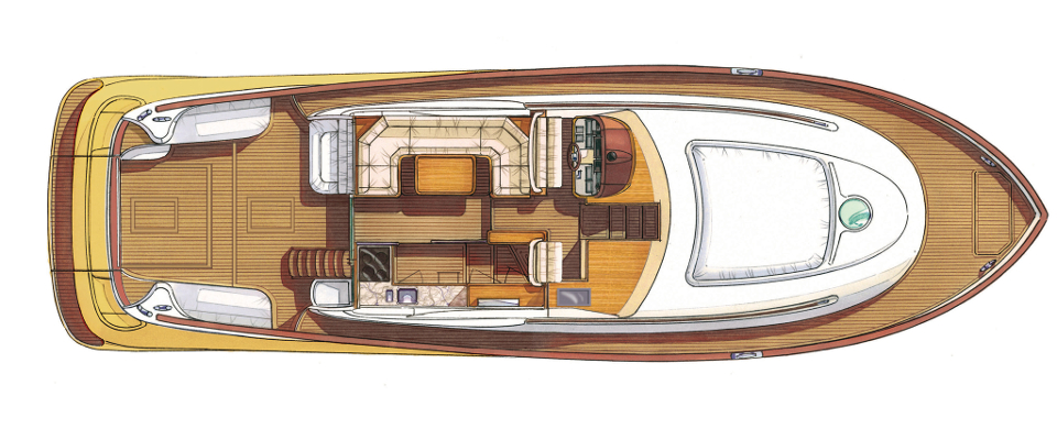 DOLPHIN 54′ FLY - Layout