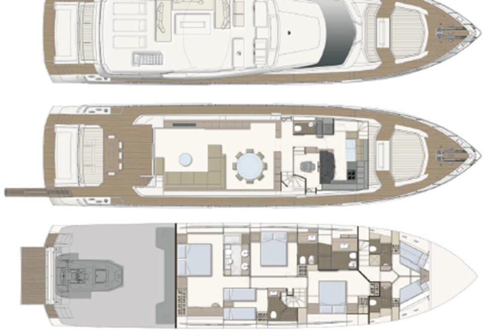 Ferretti Yachts 850 - Layout