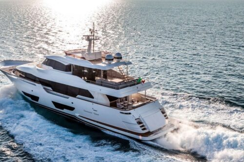 For sale: Last ever Custom Line Navetta 28 superyacht produced