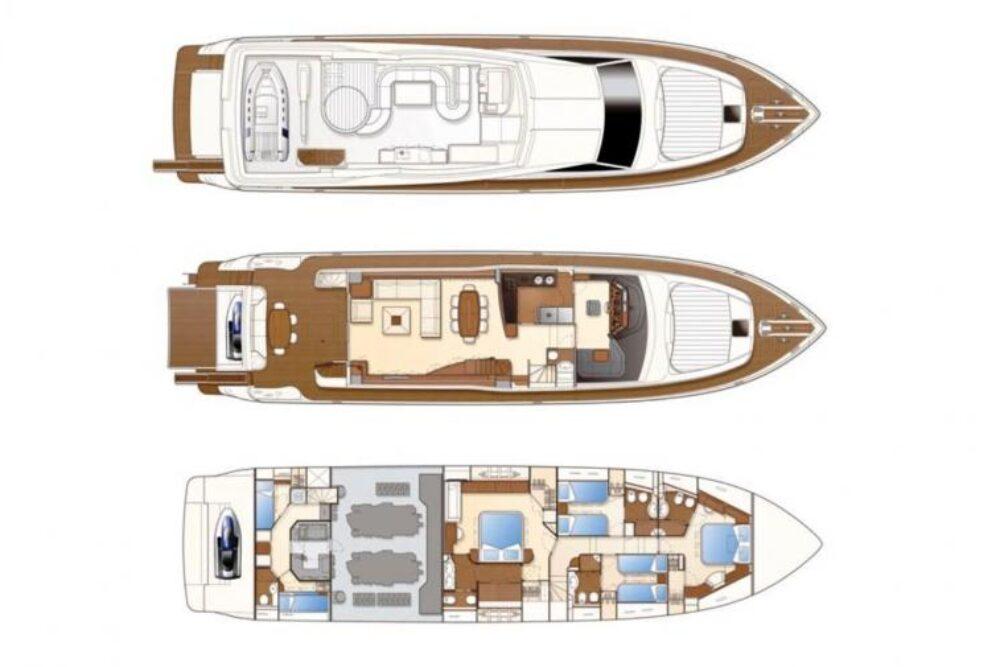 Ferretti Yachts 830 #30 - Layout