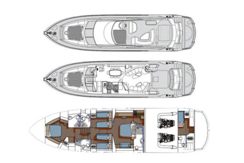 Sunseeker 75 Yacht «MARTHA» - Расположение